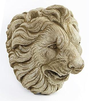 Italian Lion Head Concrete Wall Plaque Cement Vatican Lion European Garden  Statue Cast Stone Figure Sculpture