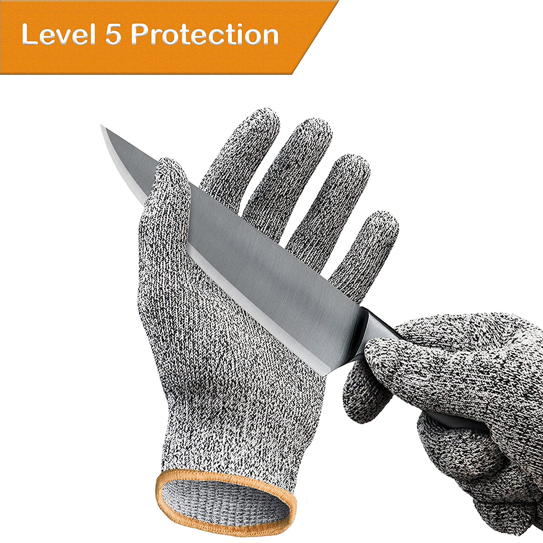 Cut Resistant Gloves/カット手袋 – Cutting Gloves for Pumpkin Carving、木製彫刻、肉カッティングとオイスターShucking – カット防止手袋レベル5保護 B06XH2P3ZH M M
