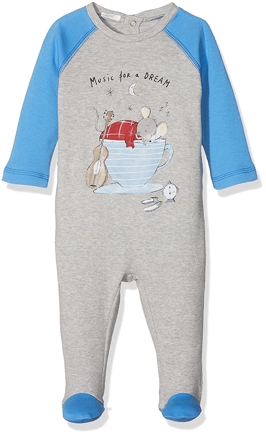 United Colors of Benetton Baby Boys' Pyjama Overall with Print Bottoms 37930T105