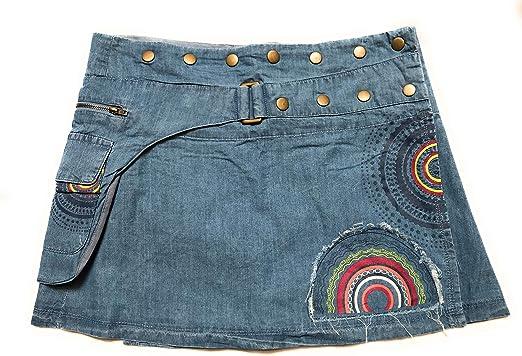 Coline Monedero Mini Jeans Falda (Mezclilla, Talla única): Amazon ...
