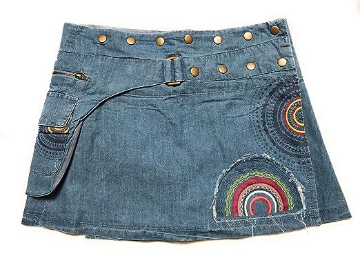 en vente en ligne style actuel extrêmement unique Coline Mini Jupe Portefeuille en Jean