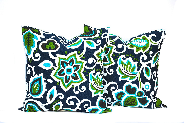 Amazon Com 2 Outdoor Pillow Covers Cushion Decorative Throw
