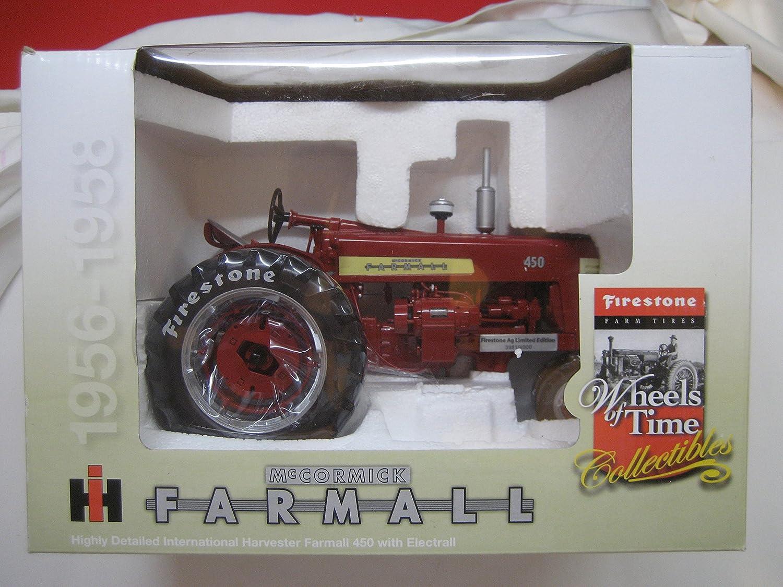1/16Th Ltd Ed Ih Farmall 450 W/Electral Motor & Firestone Tires