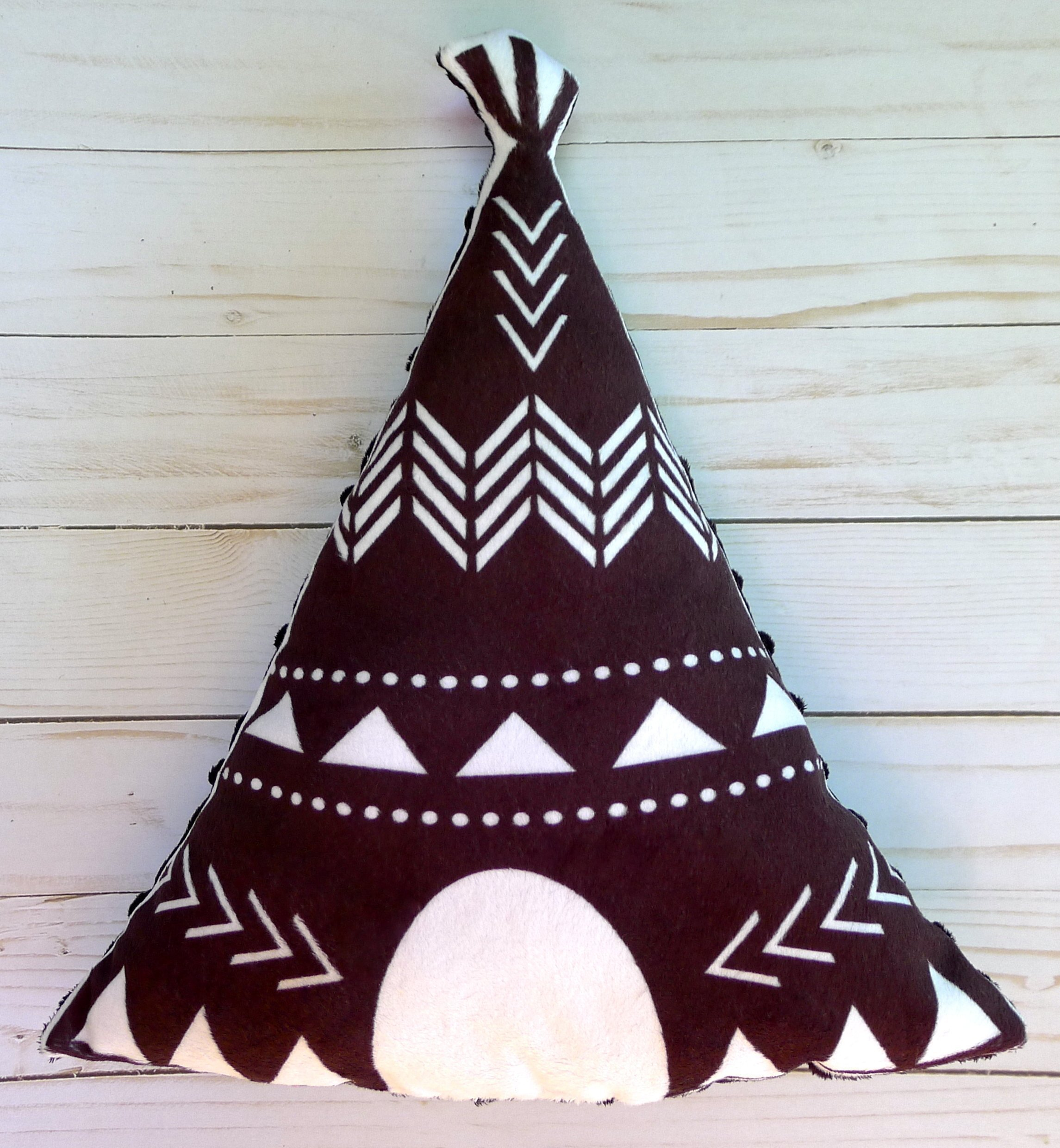 Minky Teepee Pillow - Decorative Nursery Pillow - Tribal Pillow - Tribal nursery decor - Nursery decor pillow - minky pillow - boho decor