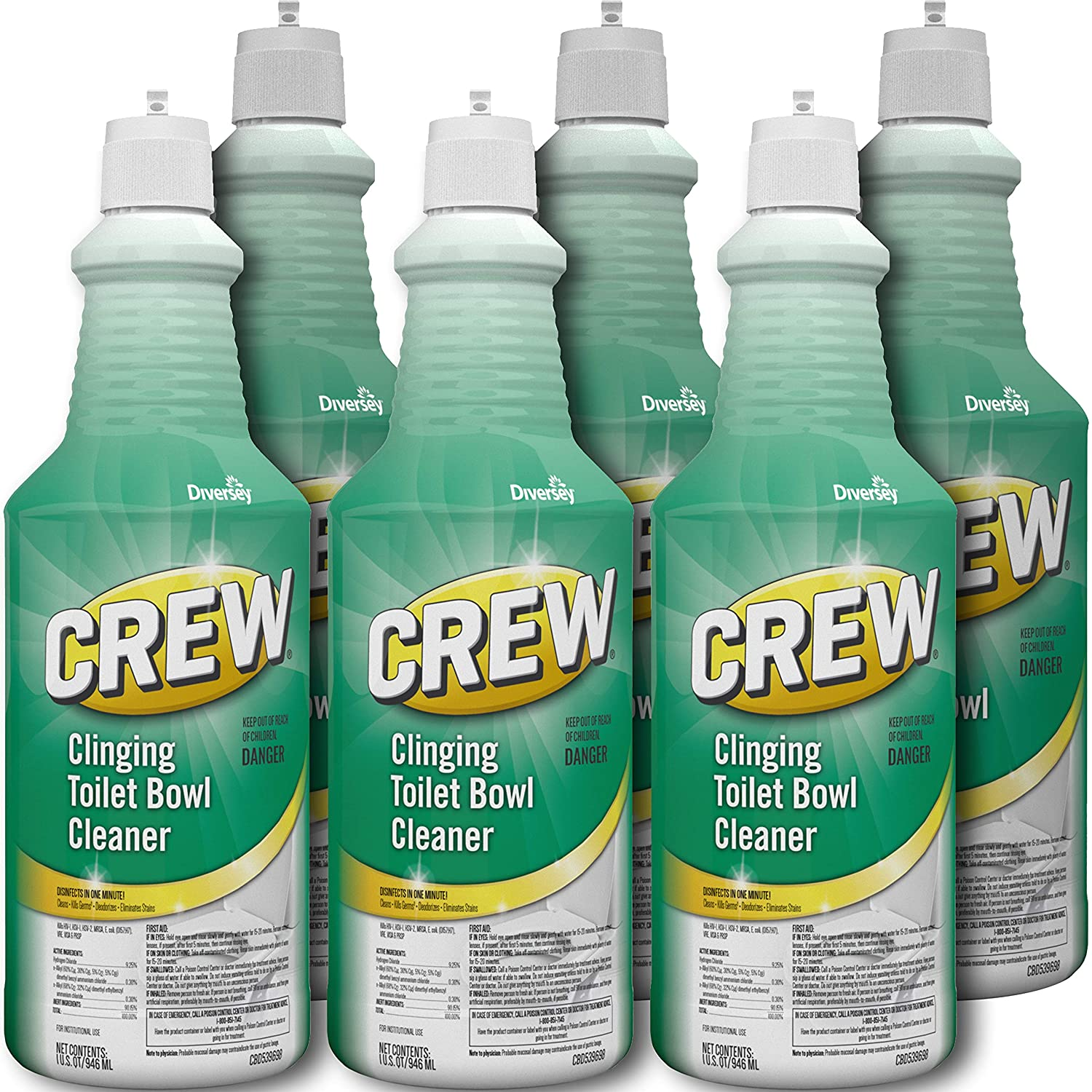 Diversey Crew Clinging Toilet Bowl Cleaner Squeeze Bottle