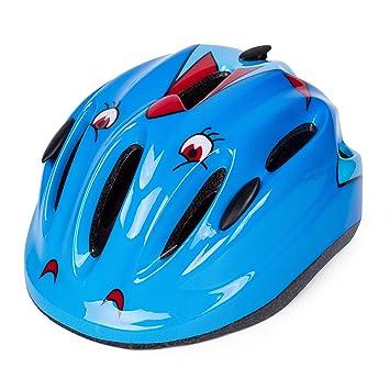 Babimax Cascos Ciclismo Casco Deportivo Patinaje Bicicleta Ultraligero de Seguridad para Niños(Azul)