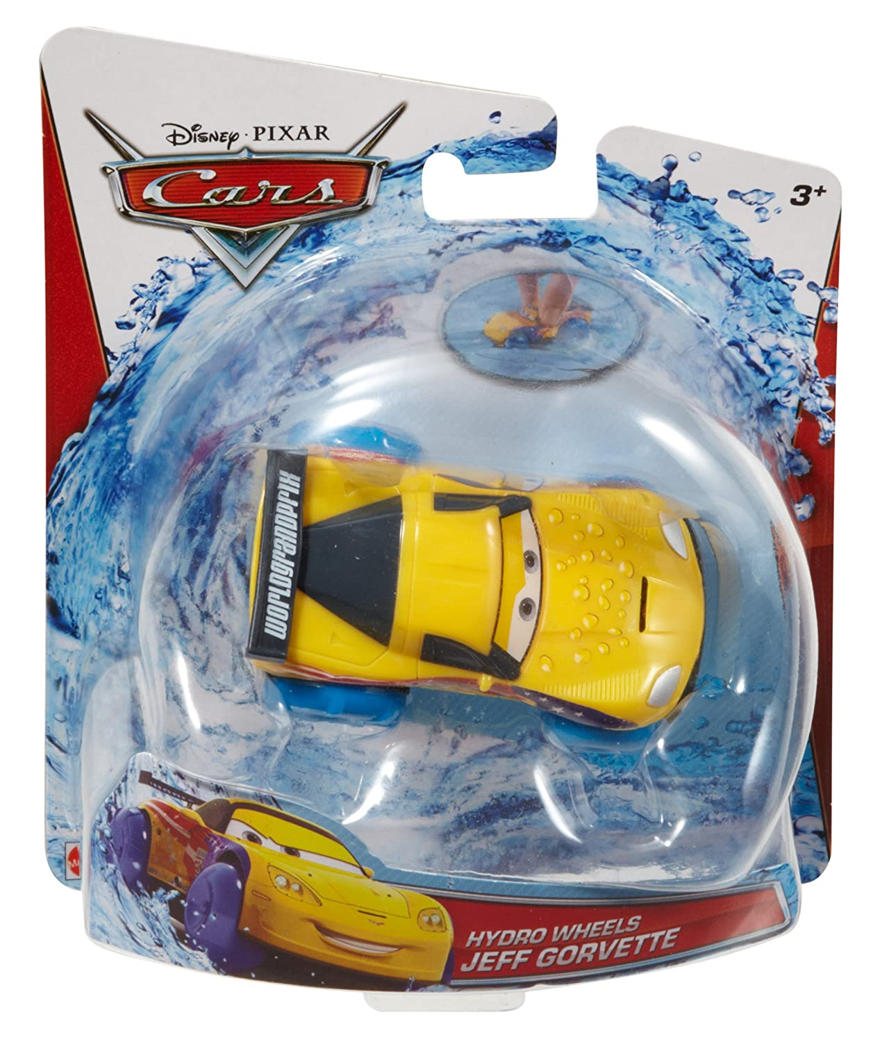 Amazon.com: Mattel Disney/Pixar Cars, Hydro Wheels, Jeff Gorvette Bath Vehicle: Toys & Games