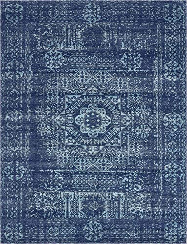 Unique Loom Tradition Collection Classic Southwestern Navy Blue Area Rug 9 0 x 12 0