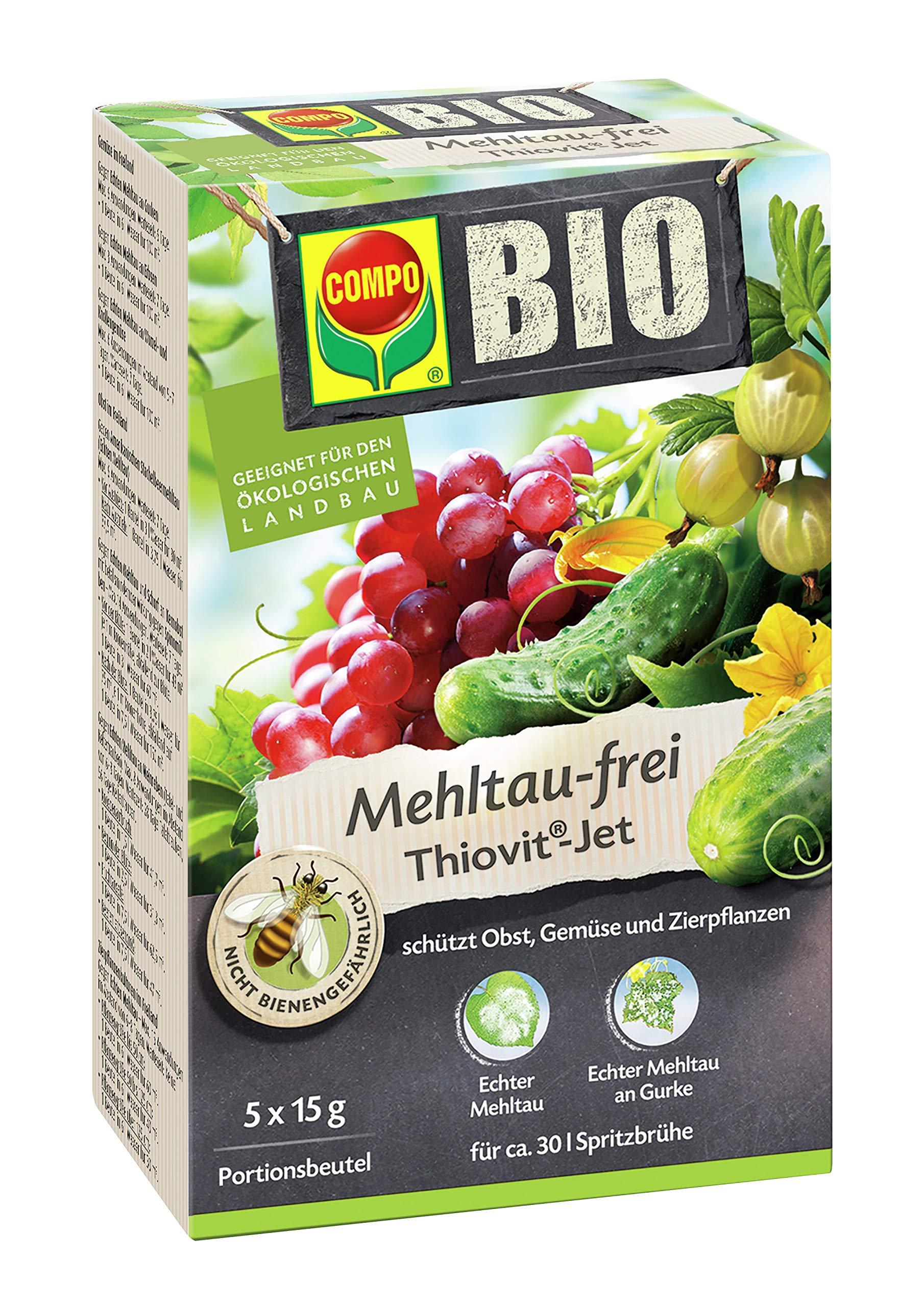 COMPO BIO Mehltau-frei Thiovit-Jet, Kontaktfungizid gegen Echten Mehltau an Obst, Gemüse und Zierpflanzen, 75 g product image