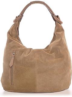 08b417a942a56 BACCINI Beuteltasche Leder Selina groß Hobo Bag Damen Schultertasche ...