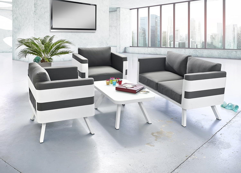 Amazon.de: Ribelli Gartenmöbel Set aus Aluminium - Loungemöbel 4 ...