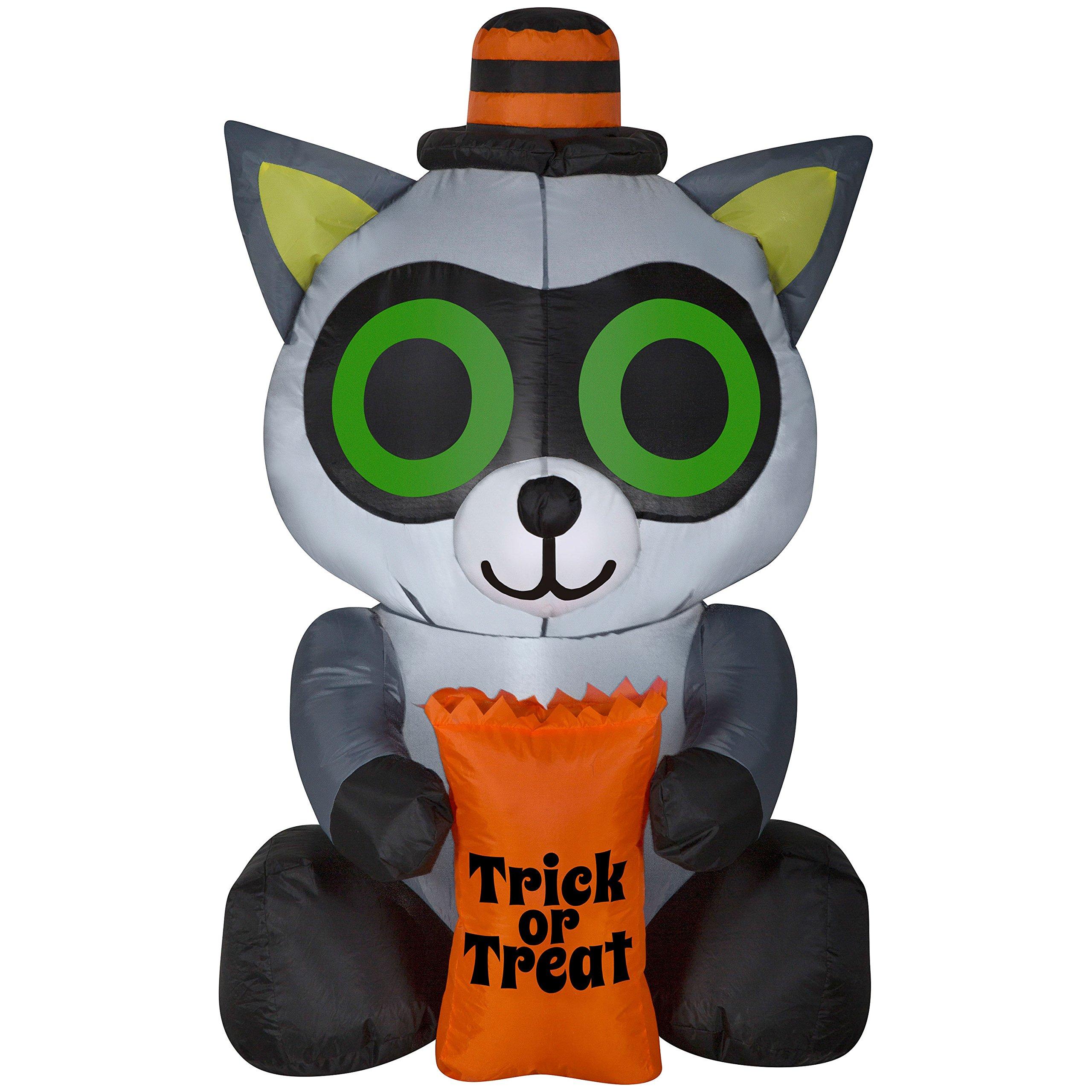 Halloween Inflatable Decorations Yard Outdoor Lights Up Kids Fun Trick o Treat Raccoon