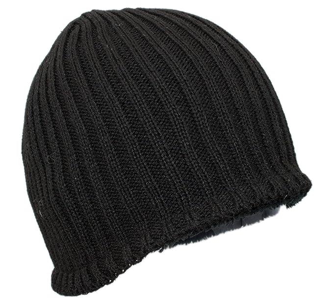 16cddb94506 MWS Warm Thick Ribbed Slouchy Knit Winter Beanie Ski Snowboard Hat Black at Amazon  Men s Clothing store