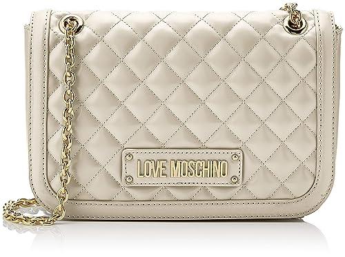 4568aa152a Love Moschino Quilted Nappa Pu, Borsa a Spalla Donna, (Avorio), 15x10x15