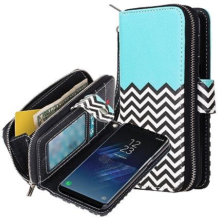 Amazon.com: E LV - Funda tipo cartera para Samsung Galaxy S8 ...