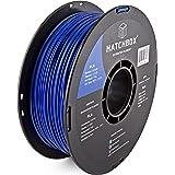 HATCHBOX 3,00 mm blaues PLA-Filament für 3D-Drucker - 1 kg-Spule - Maßgenauigkeit +/- 0,03 mm