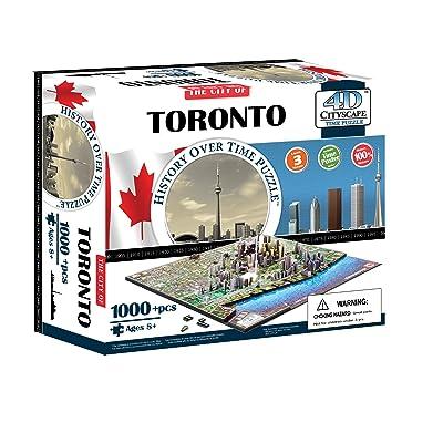 4D Paisaje Urbano 40016 - Toronto Rompecabezas | 4D del Paisaje Urbano: Juguetes y juegos