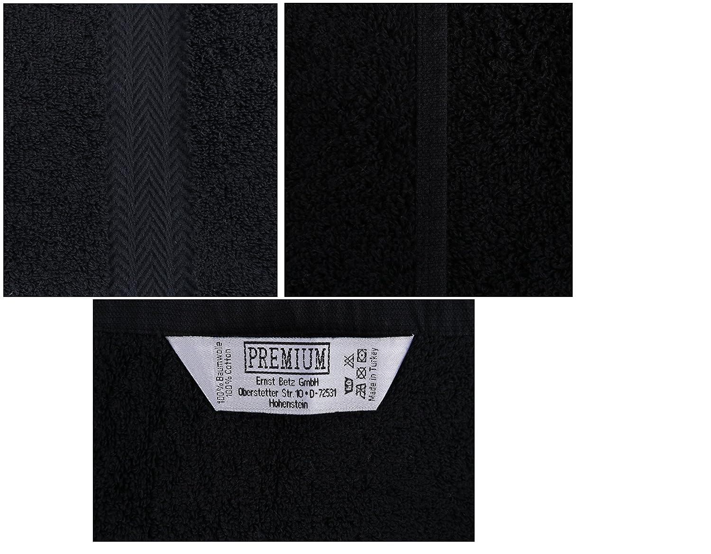 BETZ 10 Toallas para Invitados Premium 30x50cm en Rojo Oscuro y Negro