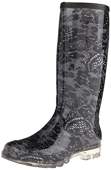 Amazon.com | Bootsi Tootsi Women's Lace Rain Boot | Mid-Calf