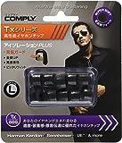 Comply(コンプライ) Tx-500 ブラック Lサイズ 5ペア 耳垢ガード付き イヤホンチップス Isolation+ Final E3000, JBL E25, Anker Soundbuds, SoundPEATS Q30, intime SORA, Campfire Audio他 アップグレード 高音質 遮音性 フィット感 脱落防止イヤーピース 「国内正規品」HC19-50123-01