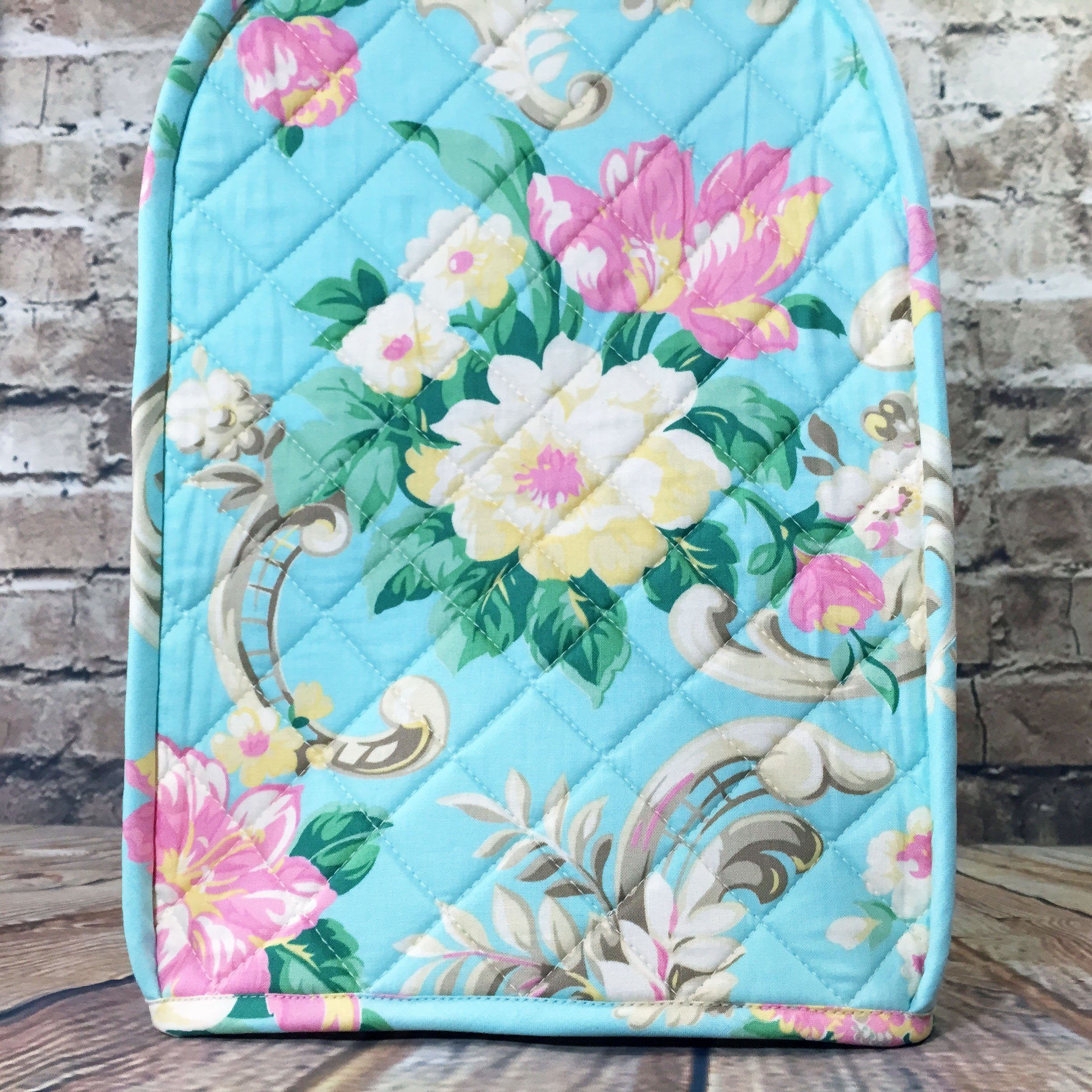 100% Cotton, Custom, Heirloom Quality, Quilted, Mixer Cover, Handcrafted to fit a 4.5 Qt. or 5 Qt. KitchenAid Tilt-Head Stand Mixer, Cozy, Made in Vermont by Baby Rozen Design (Image #7)