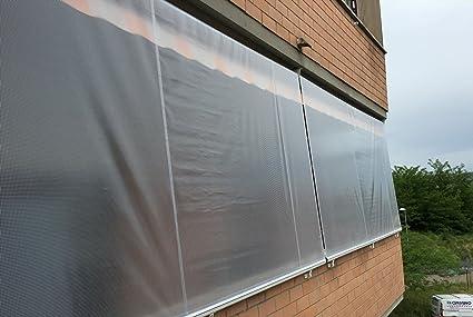 Tende Da Balcone Antipioggia : Tenda antipioggia in pvc retinato semitrasparente