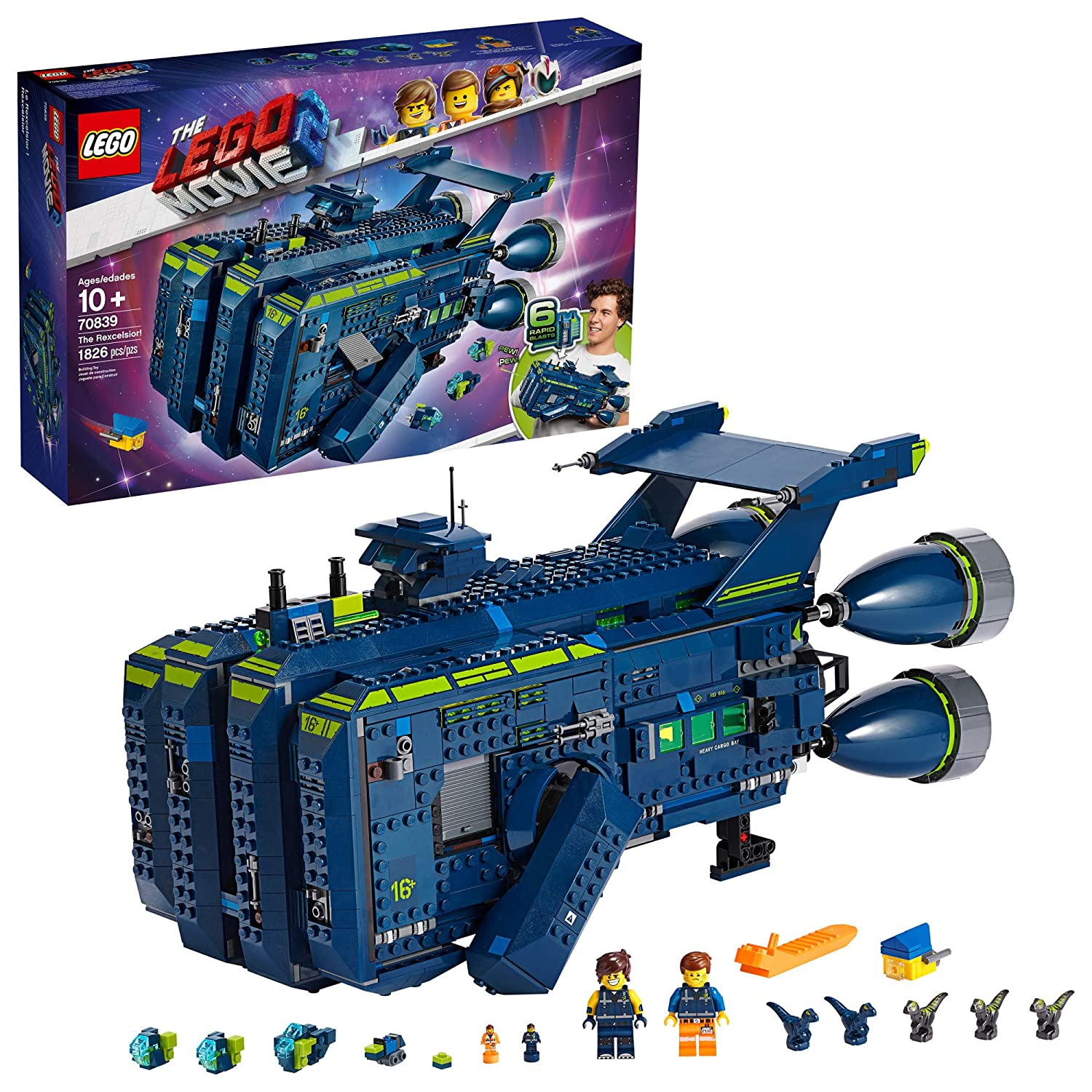 THE LEGO MOVIE 2 The Rexcelsior! 70839 Building Kit, New 2019 (1820 Pieces)