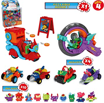 SuperZings Serie 4 – Pizza Riders Mission 3 y Pack Sorpresa con 14 ...