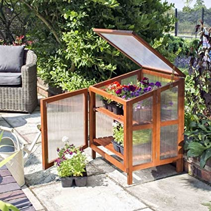 Rowlinson HWCOLDFR1 Hardwood Cold Frame - Brown: Amazon.co.uk ...