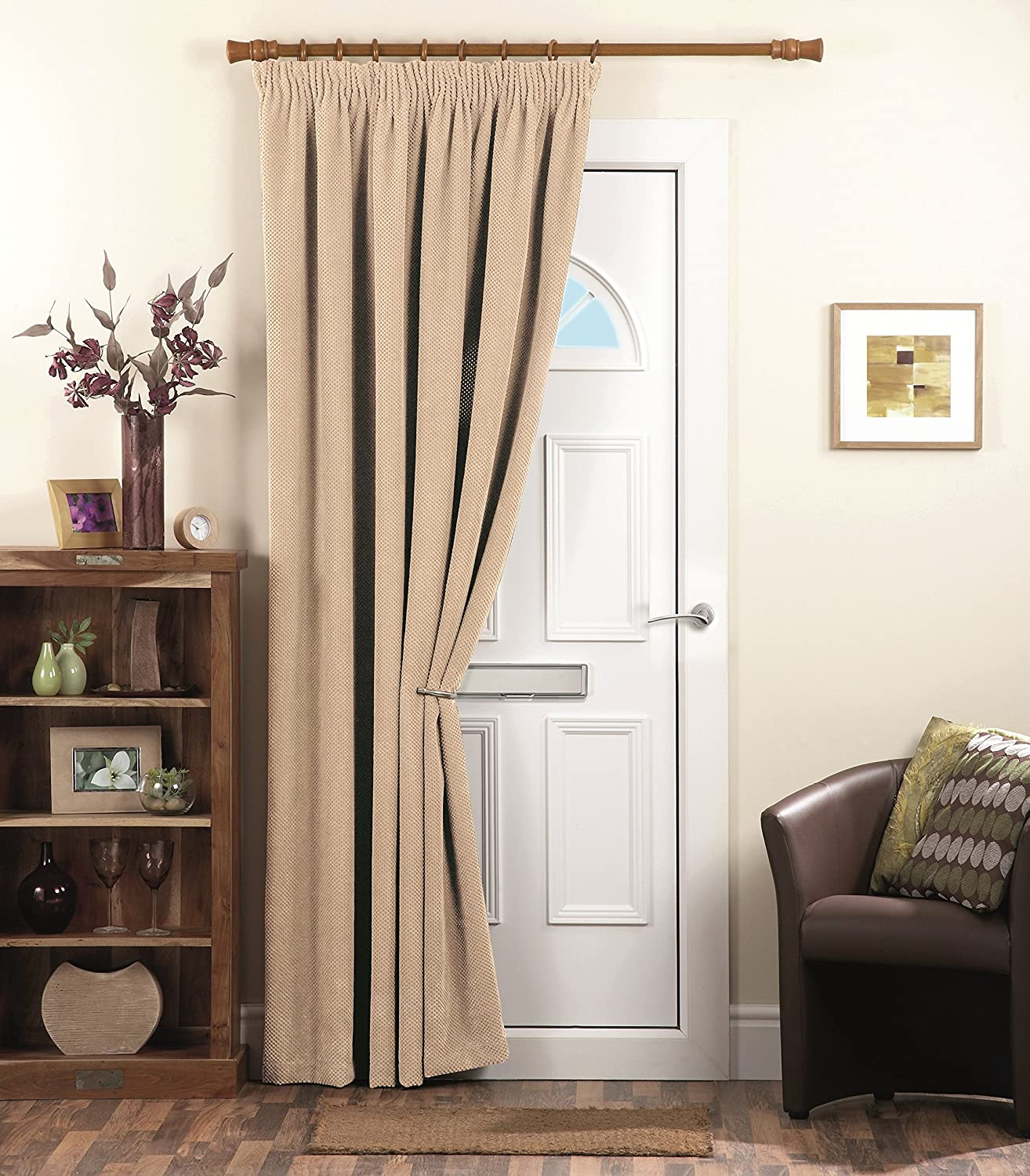 front door curtains. Dreams \u0027N\u0027 Drapes Chenille Spot Thermal Pencil Pleat Coated Door Curtain, Cream, 66 X 84 Inch: Amazon.co.uk: Kitchen \u0026 Home Front Curtains S