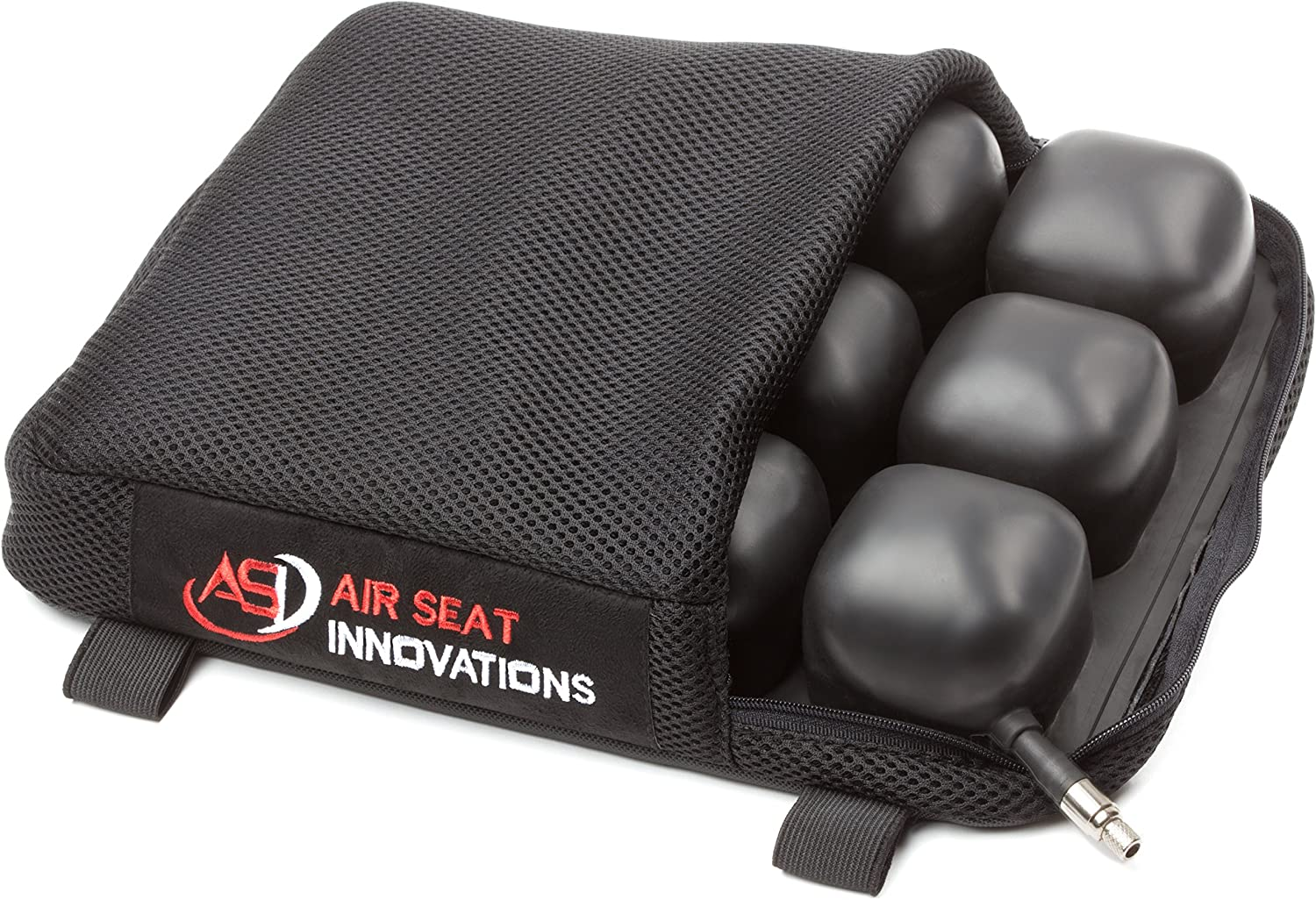 "ASI - Motorcycle Air Seat Cushion, Rear or Small Seat Size, Extends Ride time and Increases Circulation, Reduces Vibration, 12"" X 9.5"" x 2"""