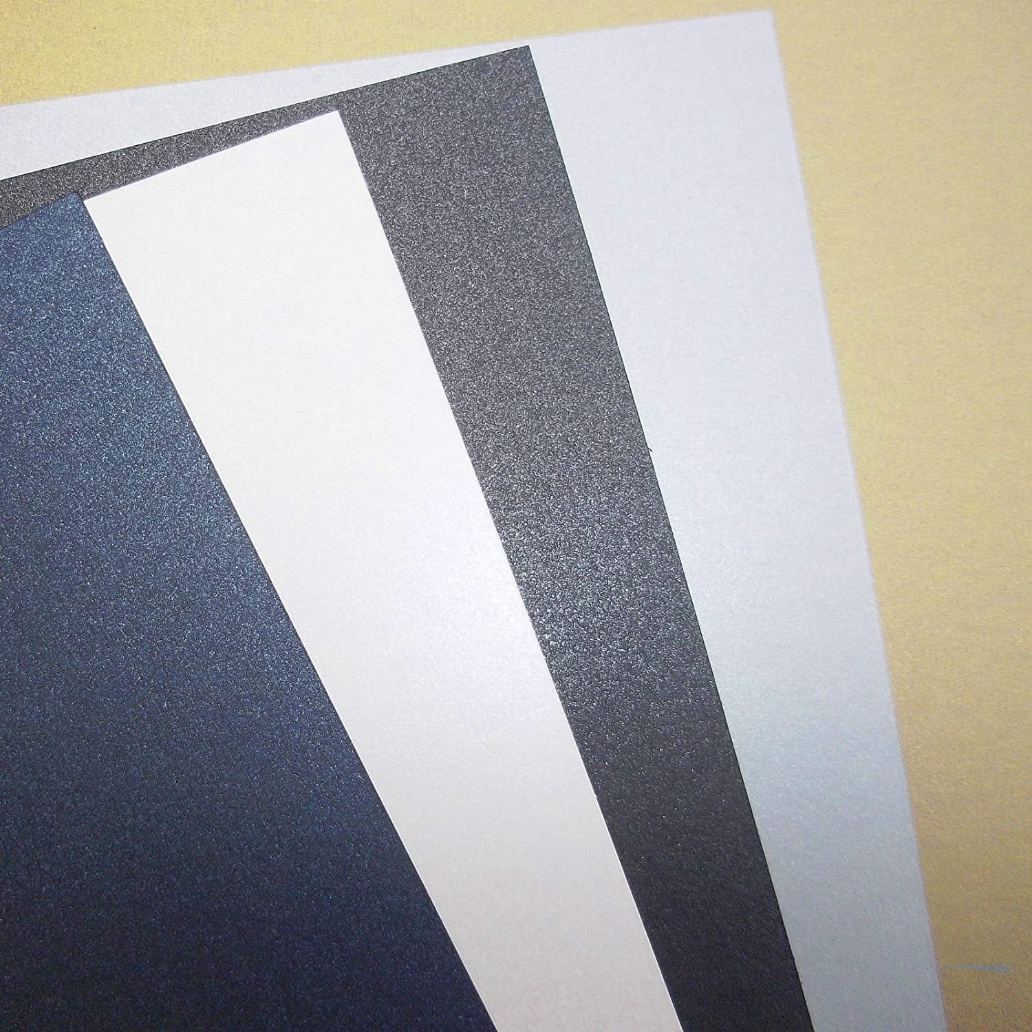 Pearlescent 240gsm 50 x A4 Navy Blue Double Sided Pearl Stella Crafts Pearlised Card Stock