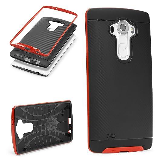 2 opinioni per URCOVER Custodia Protettiva LG G4   Back Cover Rigida Carbon Style Bumper