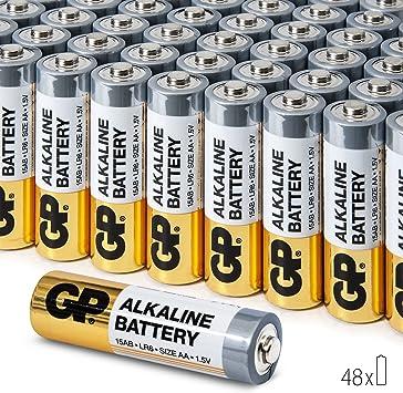 GP - Pilas alcalinas AA de Alto Rendimiento de 1,5 V (Caja de 48): Amazon.es: Electrónica