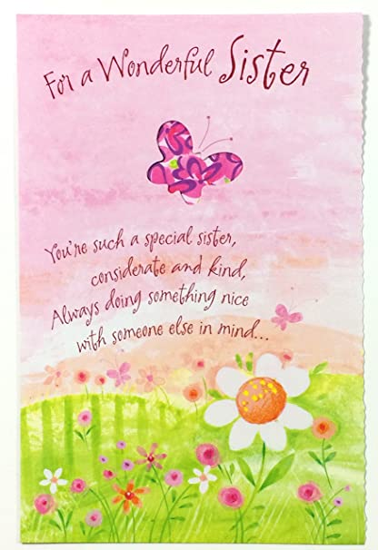 Amazon mothers day card sister for a wonderful sister youre mothers day card sister for a wonderful sister youre such a special m4hsunfo