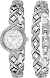 Armitron Women's 75/5412 Swarovski Crystal Accented Watch and Bracelet Set