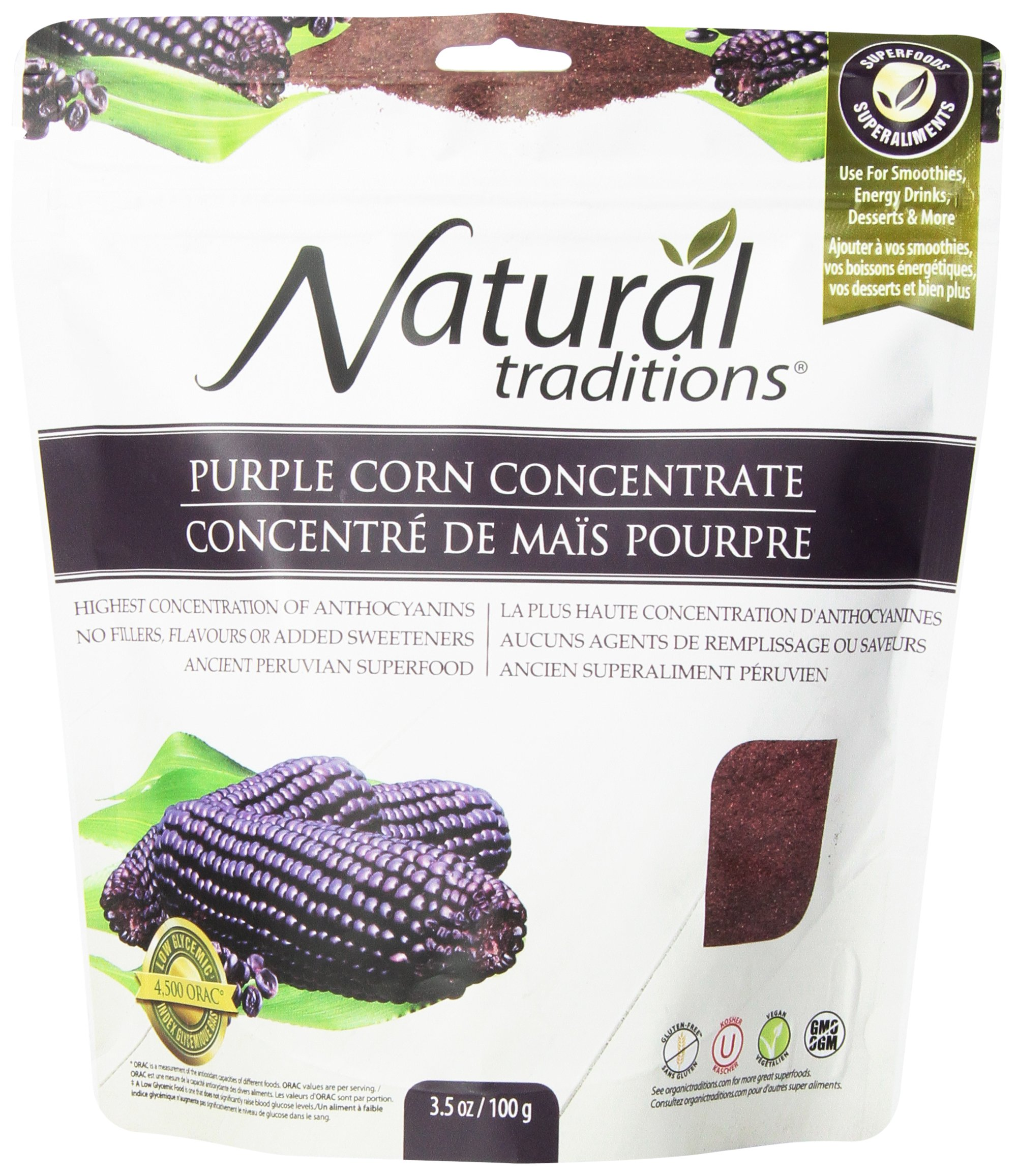 Natural Traditions Corn Powder, Purple, 3.5 Ounce