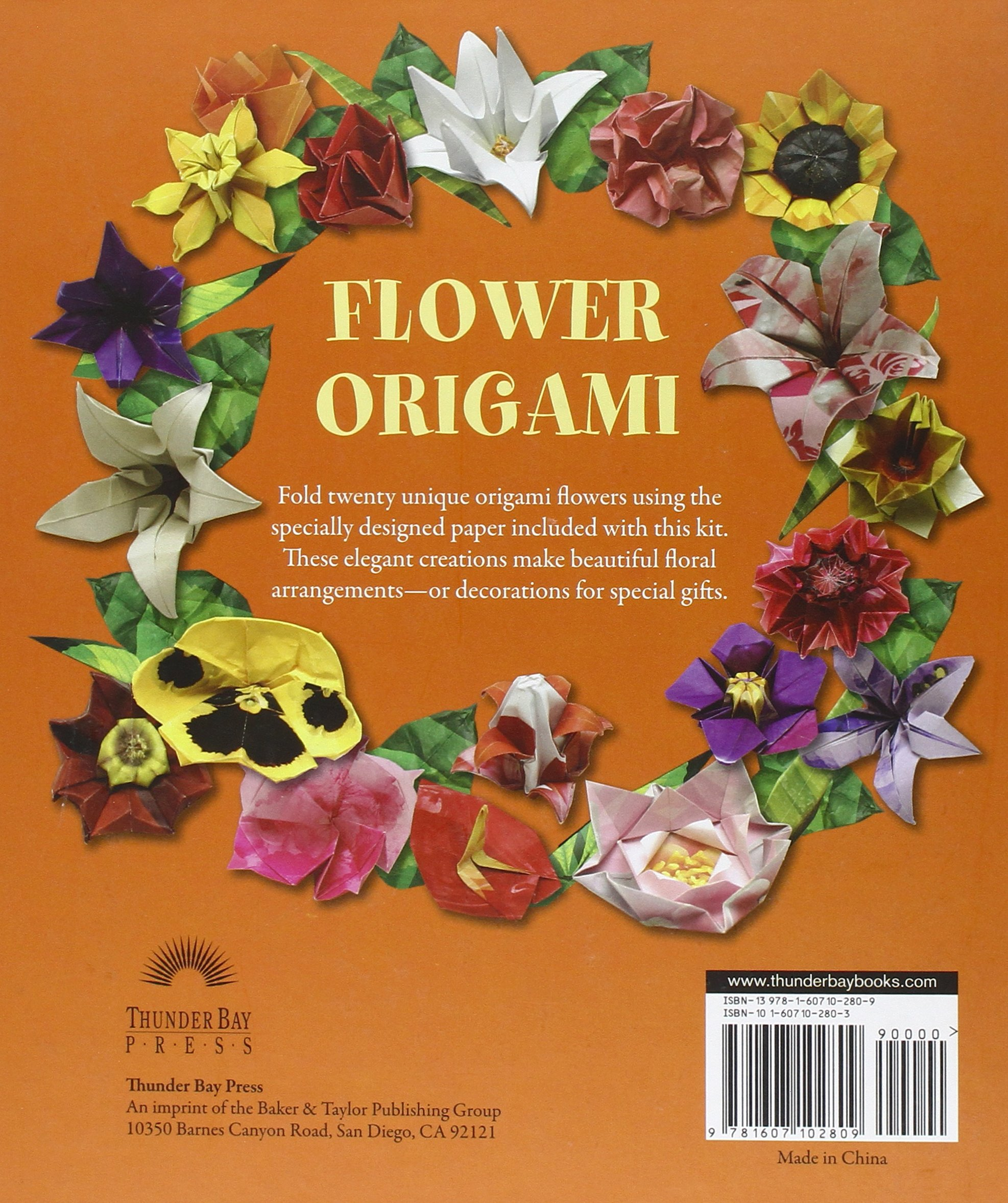 Flower Origami Origami Books Joost Langeveld 9781607102809