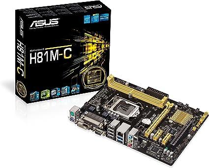carte mère socket 1150 Asus H81M  C Carte mère Intel Micro ATX Socket 1150: Amazon.fr
