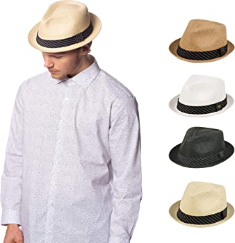 6dc84bbe1c9 Mens Summer Fedora Cuban Style Upturn Short Brim Hat. Epoch hats Mens  Summer Fedora Cuban Style ...