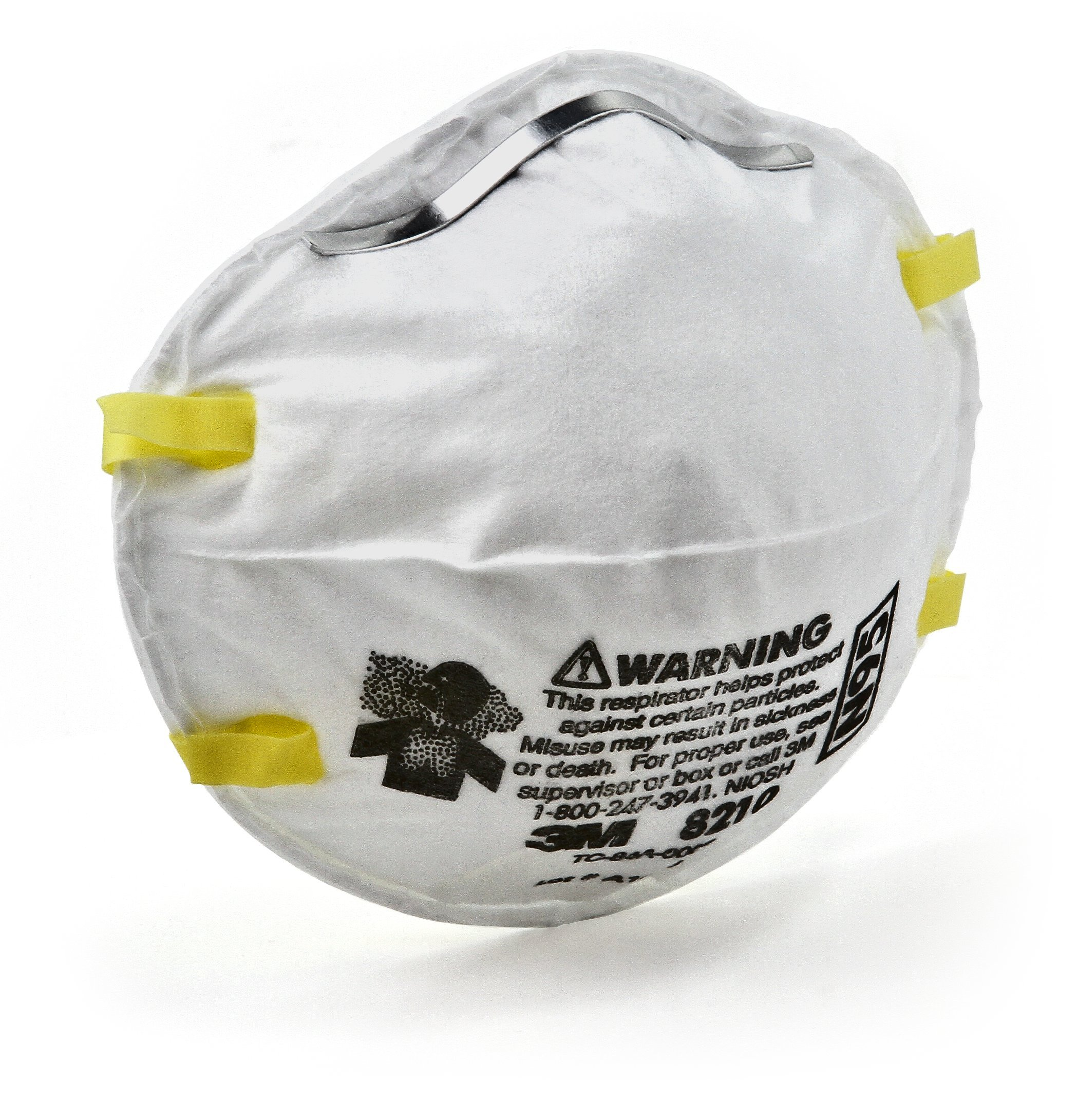 3M Particulate Respirator 8210, N95 (Pack of 20) by 3M Personal Protective Equipment (Image #2)