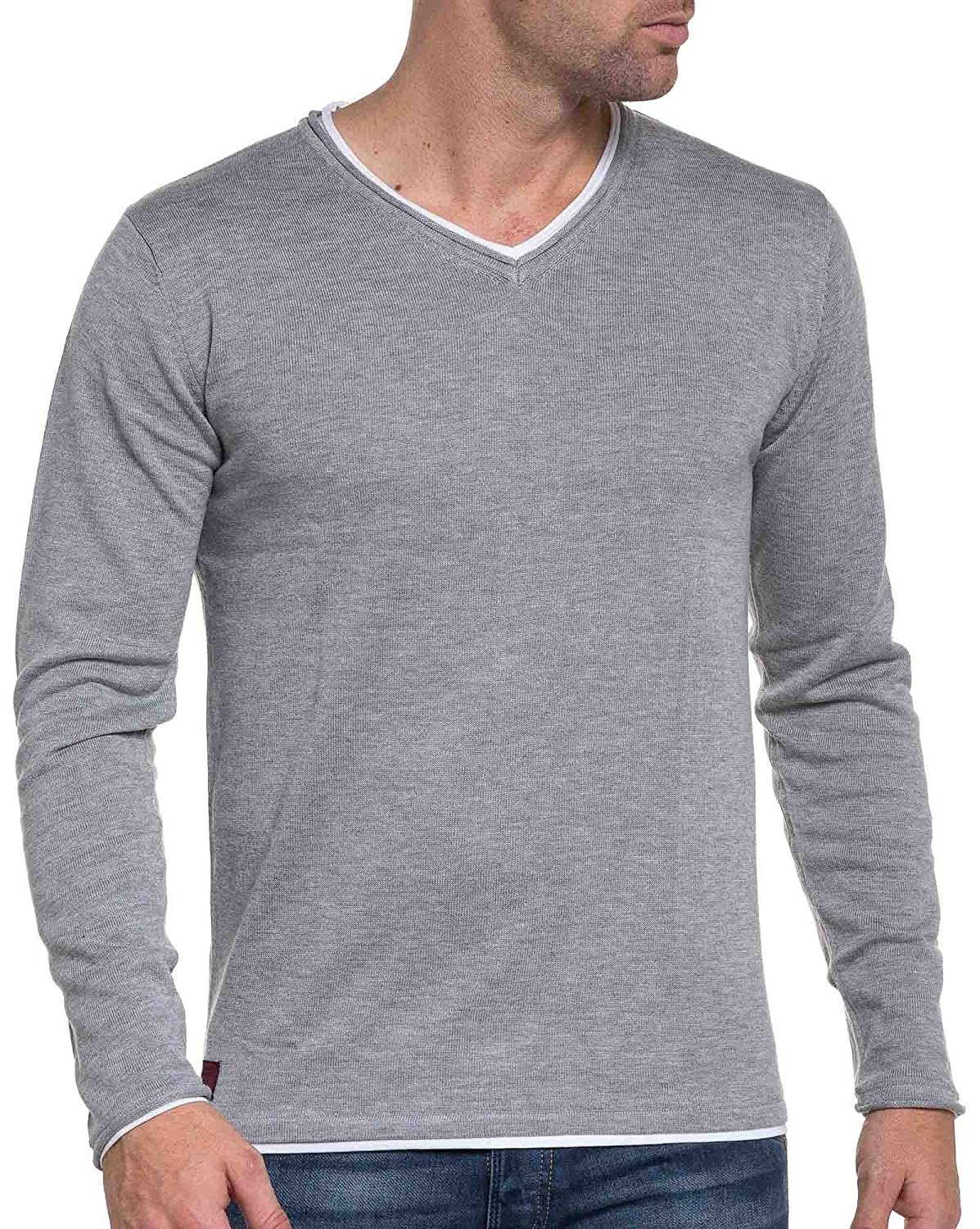Deeluxe 74 - Men&#39s Sweaters light gray fine mesh midseason