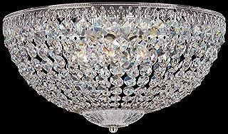 product image for Schonbek 1564-40A Swarovski Lighting Petit Crystal Flush Mount Lighting Fixture, Silver