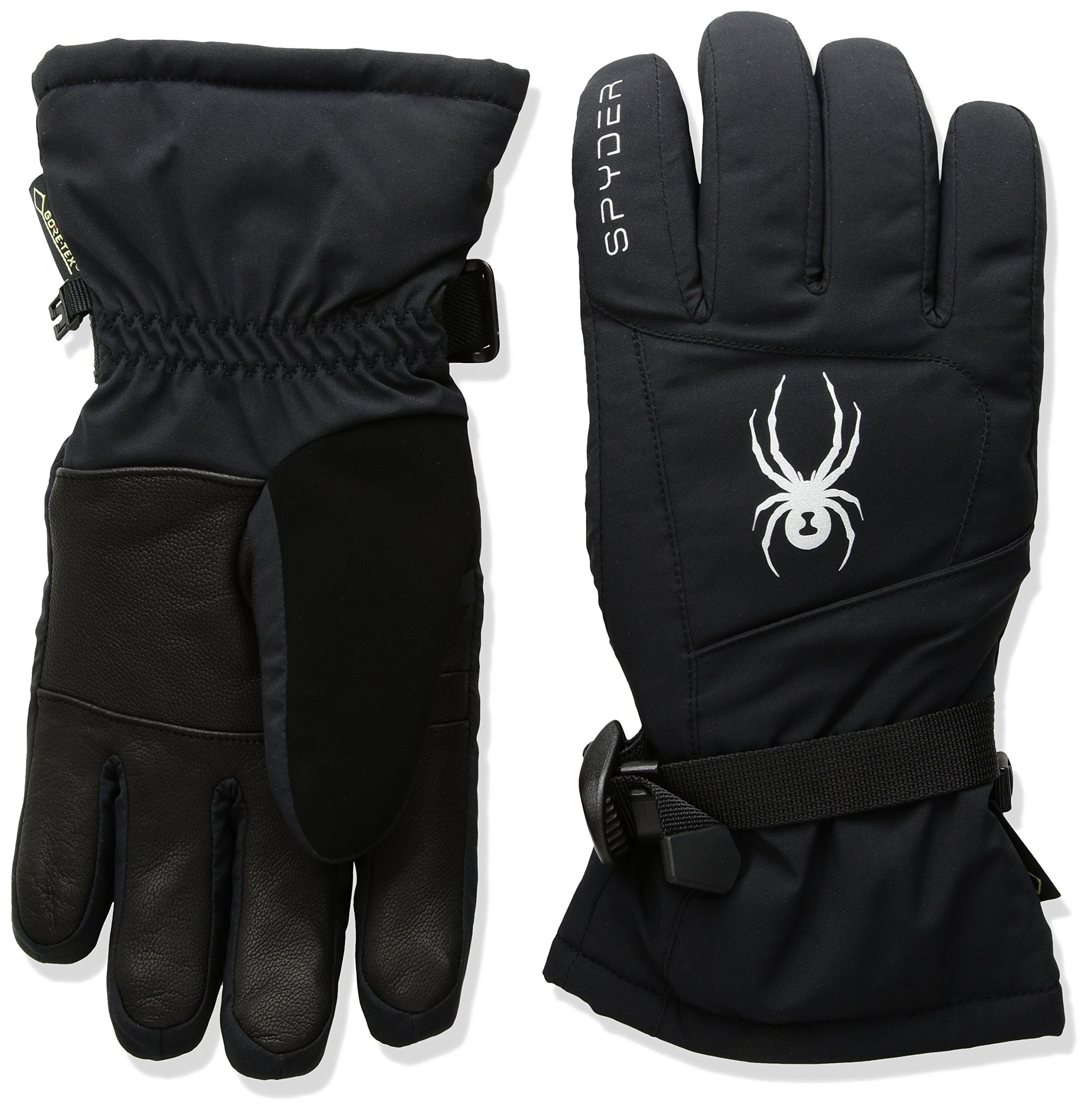 Spyder Women's Synthesis Gore-Tex Ski Glove, Black/Silver, Small