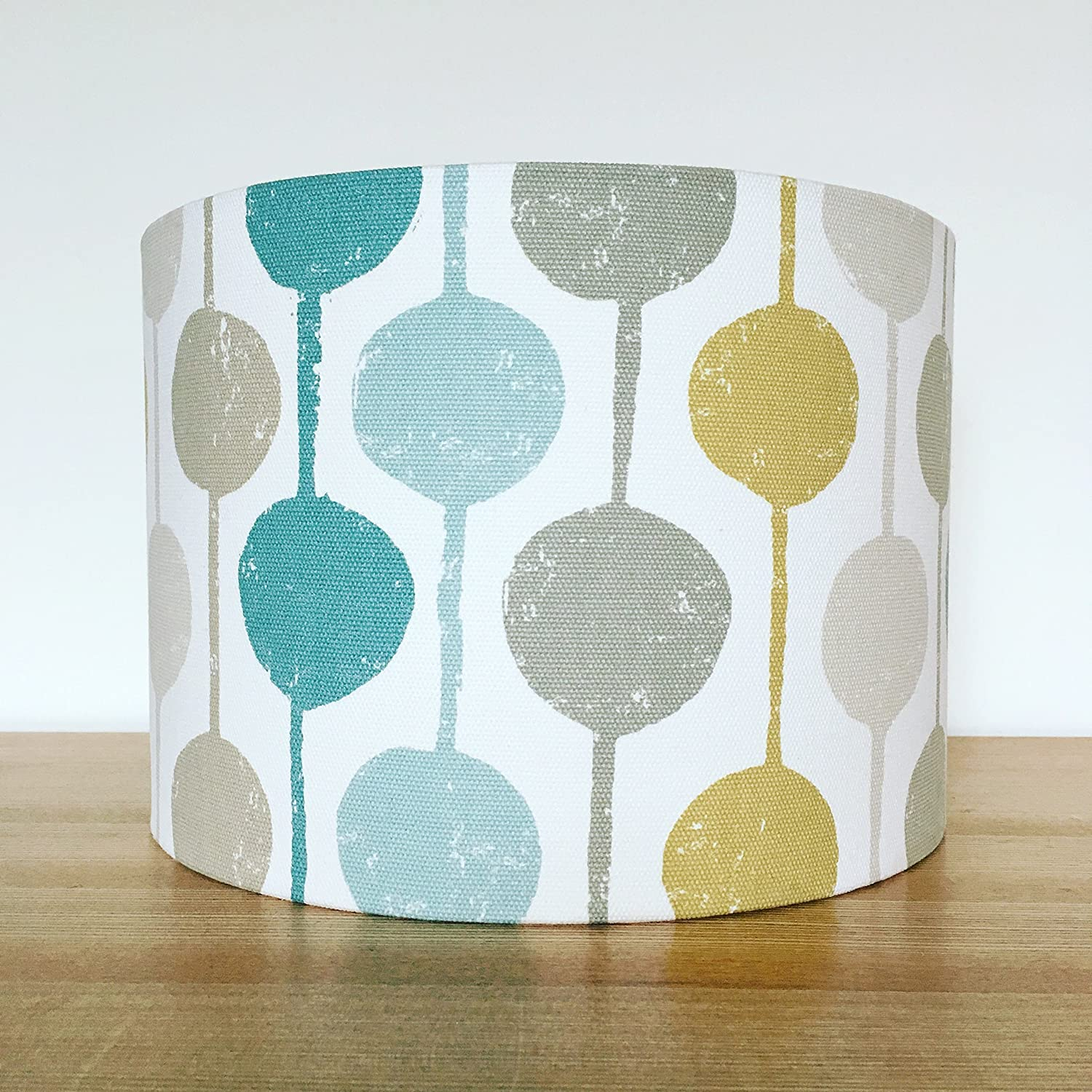 Handmade Fabric Lampshade. Taimi by Scion uk. Seagrass/chalk/Honey ...