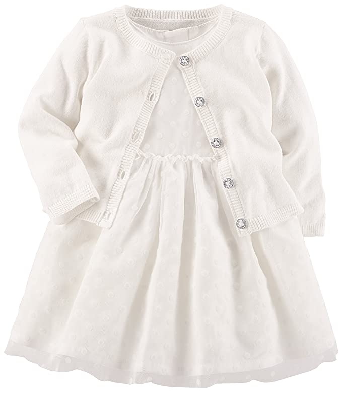Carter's - Vestido para niña con cárdigan
