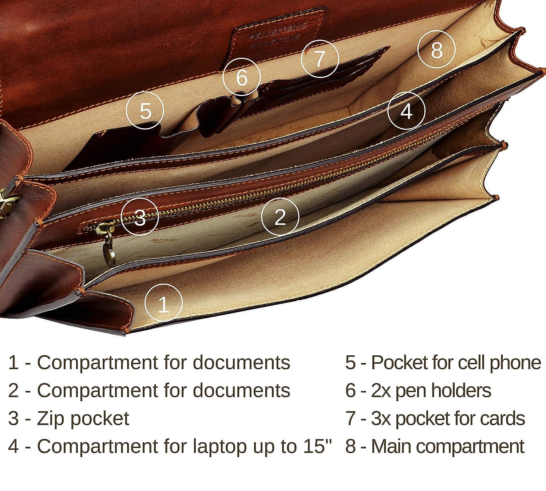 a063da44bc00 Amazon.com  Leather Mens Briefcase