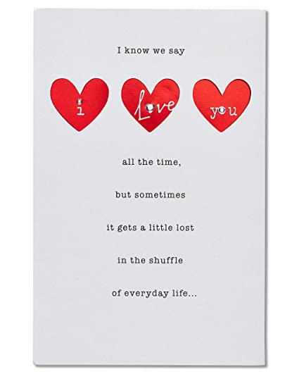 Amazon american greetings i love you anniversary card with american greetings i love you anniversary card with rhinestones m4hsunfo
