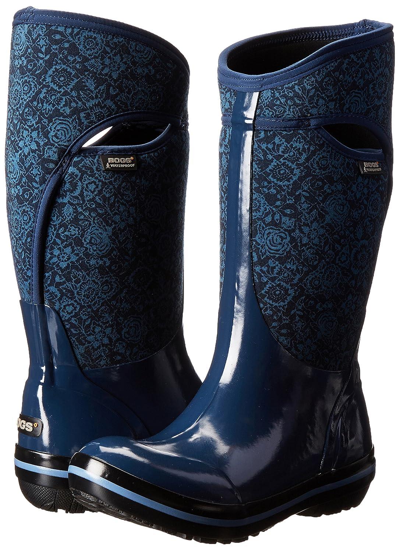 e4747a48aba Botas de nieve de las mujeres de plumón acolchado bota de nieve de invierno  alto Índigo