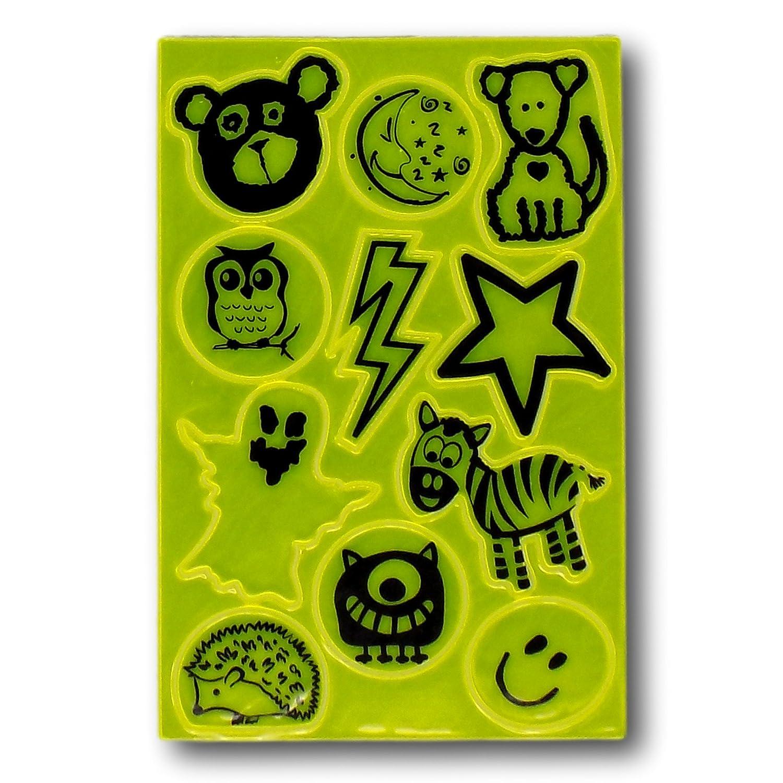 1 Sticker Pack, Green Bags etc Minder Viz-StickZ High Hi Visibility Reflective Road Safety Stickers for Children Bikes